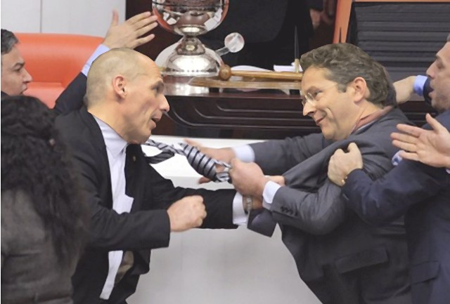Dijsselbloem Varoufakis vechtpartij
