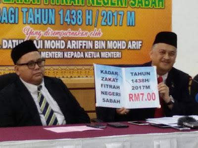 Kadar Zakat Fitrah Negeri Sabah 2017