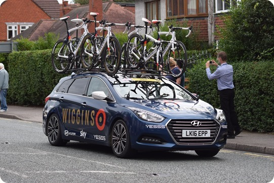 Tour of Britain - Stage 3 Cheshire - Team Wiggins  support car