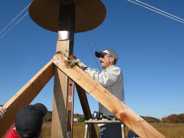 Guilford Salt Meadow Sanctuary Osprey Platform - sfs%252C10-25-09%2Bosprey%2Bplatform%2Binstall%252C086.JPG