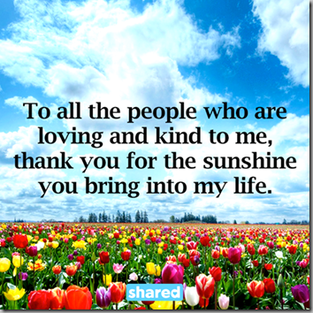 thank you for sunshine