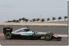 Nico Rosberg nelle prove libere del gran premio del Bahrain 2016