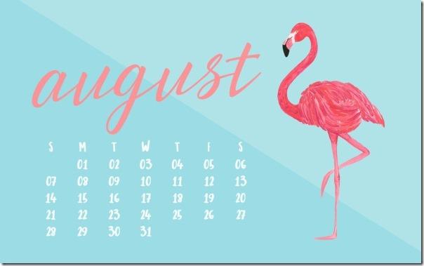 August 2016 Calendar Wallpaper