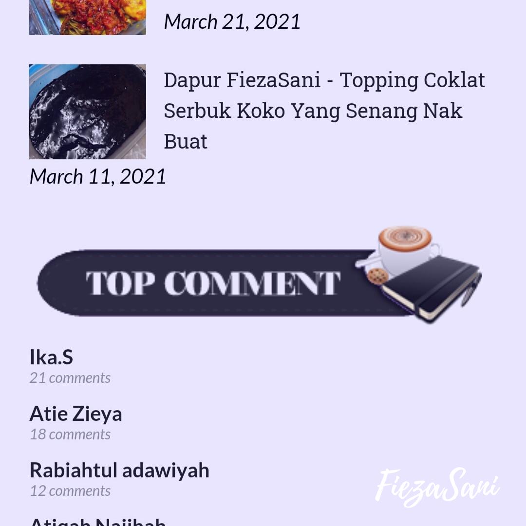 top pengomen blog, fieza sani
