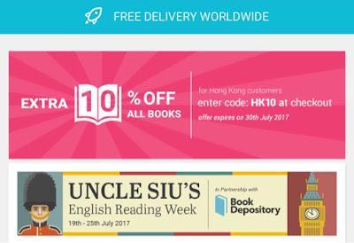 全球免運費 ♥ 網上書店 Book Depository x 英語教學達人蕭叔叔 英文閱讀週 ...