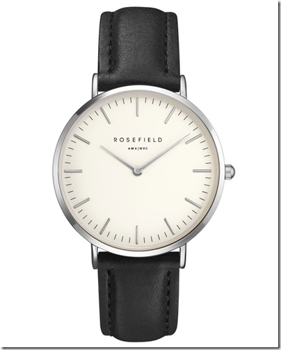 Rosefield Watch - The Bowery White Black Silver Case