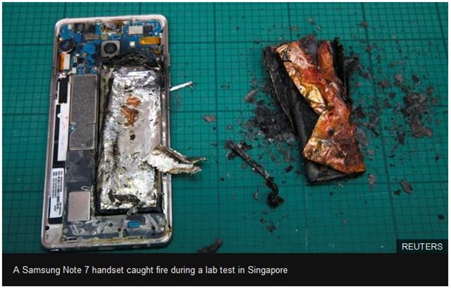 Samsung Galaxy Note 7 terbakar