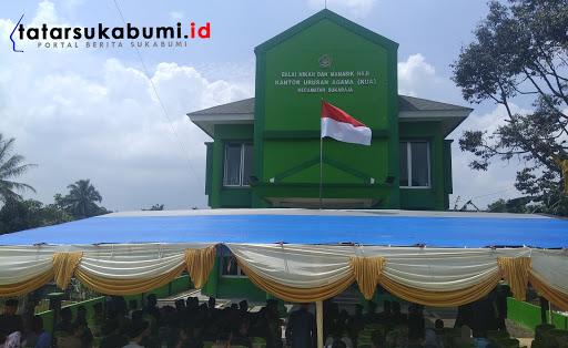 Gedung KUA Sukaraja Sukabumi Senilai 1,5 Miliar Diresmikan