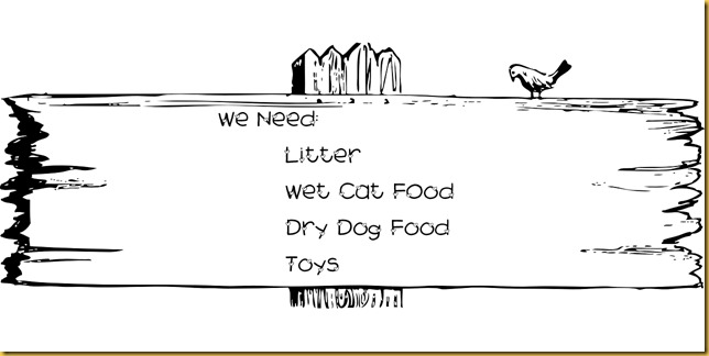 Sign of needs (© Bell Fur Zoo)