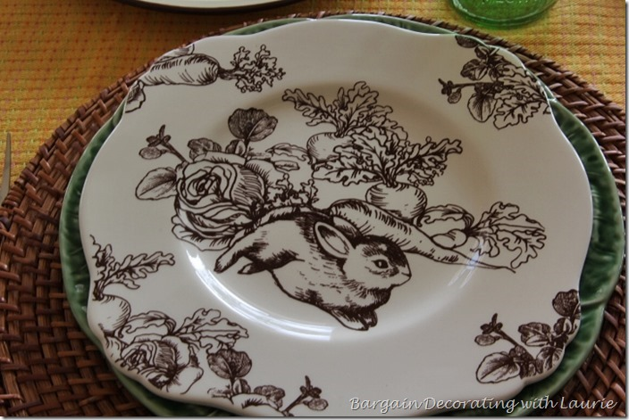 Spring Bunny Table-Bargain Decorating with Laurie