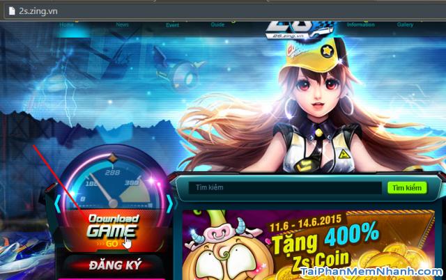 Tải game 2s zing speed từ trang chủ 2s.zing.vn
