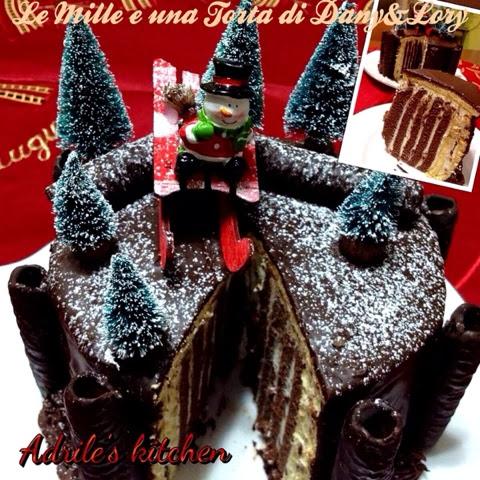 torta girella al mascarpone e glassa al cioccolato