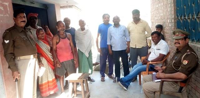 सेनापुर गांव में पंचायत चुनाव को लेकर हुई बैठक
