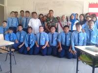 Danramil 08 Kodim 1408/BS Makassar, Mayor Inf Hatta silaturahmi di SMA Tunas Bangsa.