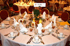 A light, bright and white table setting awaited luncheon attendees.