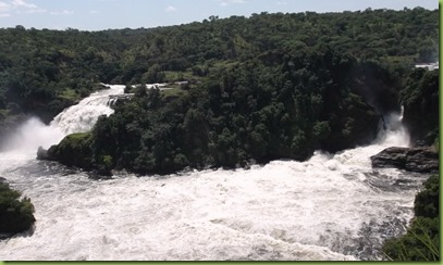 The Uhuru falls (left) and Murchison falls (right). Uhuru was created during a flood in 1962!