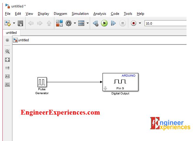 Pulse generator with digital output block in Simulink Model