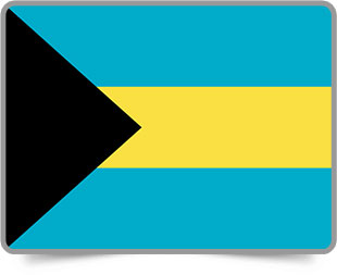 Bahamian framed flag icons with box shadow