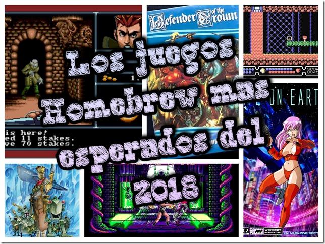 Los juegos Homebrew mas esperados del 2018