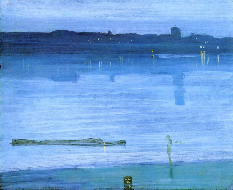 James Abbott McNeill Whistler - Nocturne in Blue and Green.Chelsea