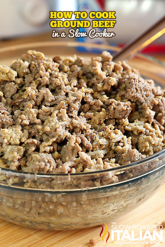 ground beef in a glass bowl
