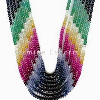 Multi Color Precious Beads, Designer Beaded Jewelry about