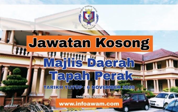 Jawatan Kosong Terkini Majlis Daerah Tapah Perak