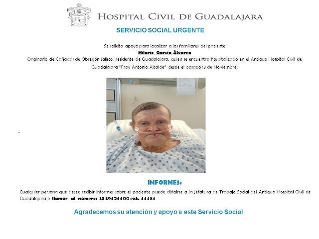 """Servicio Social """"Urgente"""" para localizar familiares de paciente."""