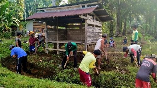 Kegiatan Kampung Tangguh Nusantara Nagari Tageh Rumah Gadang, Masyarakat Pujorahayu Gelar Goro.