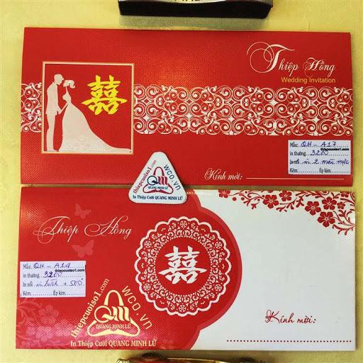 Thiệp cưới giá rẻ Mã 2016.7