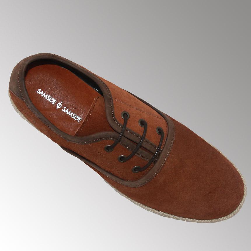 Pantofi Casual Sam Soe, Piele 100%, Model Superb, Cognac