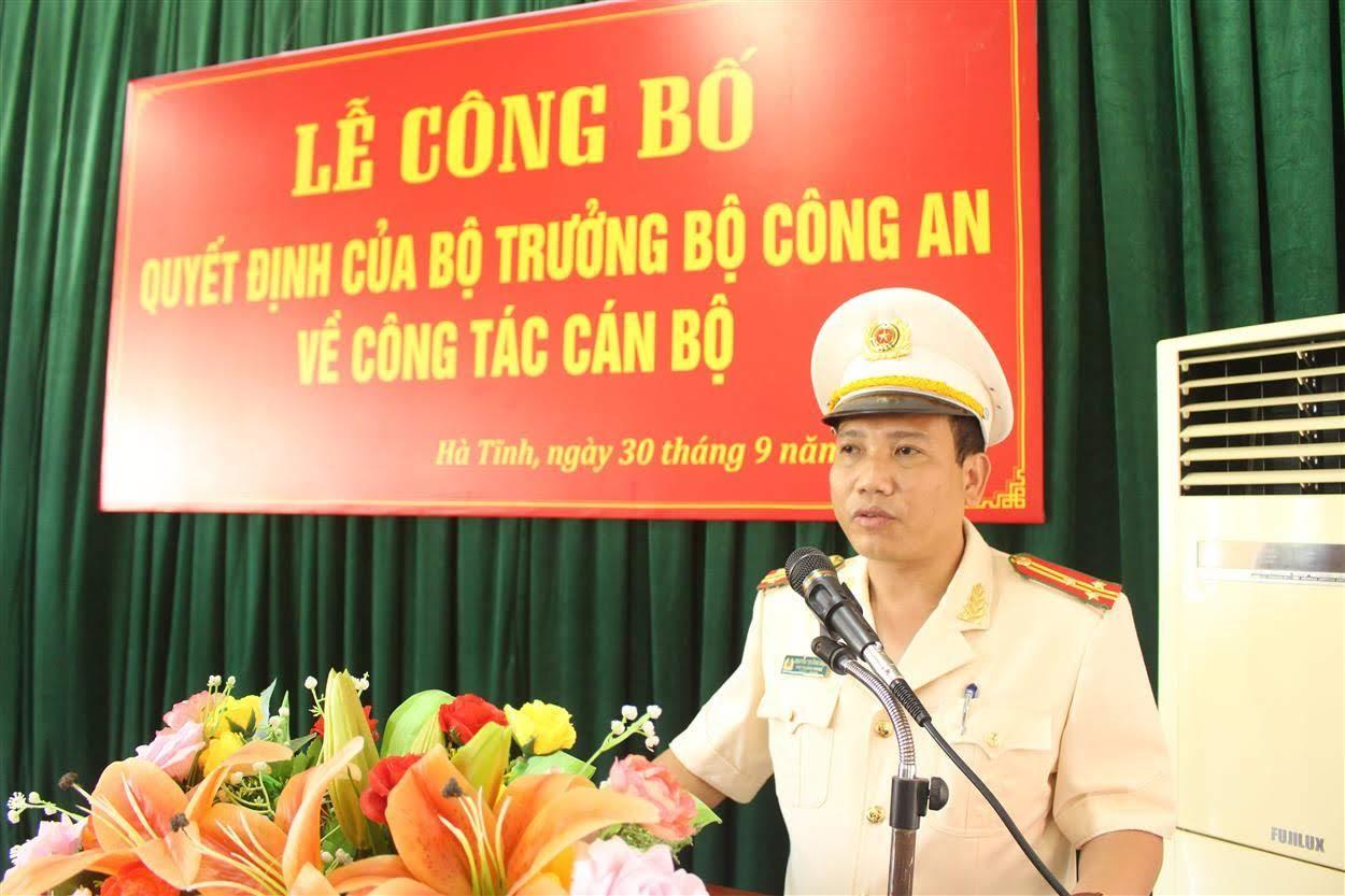 Thượng tá Nguyễn Trường Diệu phát biểu nhận nhiệm vụ