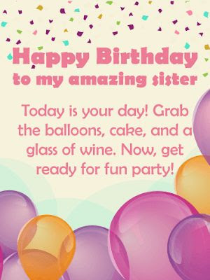 sister birthday cards images