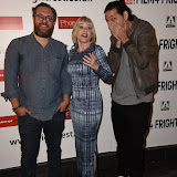 OIC - ENTSIMAGES.COM - Rob Schroeder, Barbara Crampton and Benjamin J Cressciman at the Film4 Frightfest on Saturday    of  Sunchoke  UK Film Premiere at the Vue West End in London on the 29th August 2015. Photo Mobis Photos/OIC 0203 174 1069