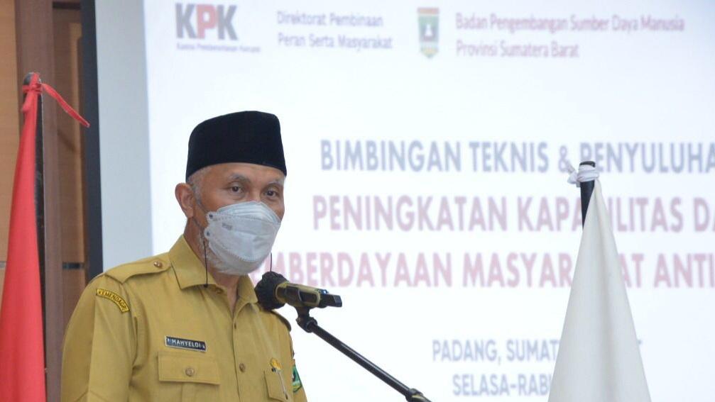 Gubernur Sumbar Nilai Keterlibatan Masyarakat Penting dalam Memerangi Korupsi