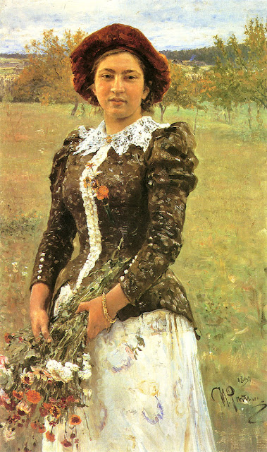 Ilia Repin - Autumn Bunch. Portrait of Vera Ilyinichna Repina, the Artist's Daughter