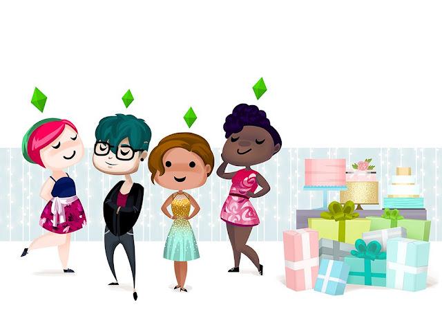 De Sims 16de verjaardag Wallpaper