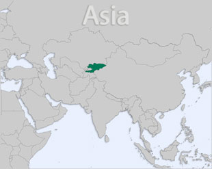 Kyrgyzstan location map