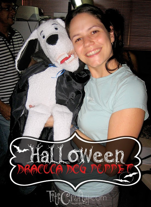 Halloween Dracula Dog Puppet at 30 Spider and Bat Halloween Decoration Ideas