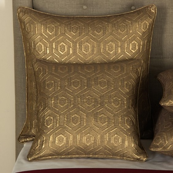 gold pillows