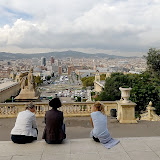View from National Art Museum of Catalonia. Barcelona