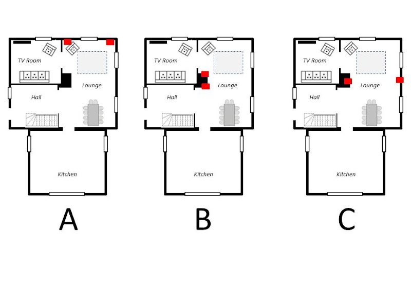 Speaker placement and selection in large / odd shaped room