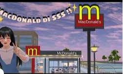 ID Mc Donald's di Sakura School Simulator Dapatkan Disini