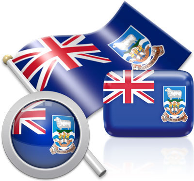 Falkland Island  flag icons pictures collection