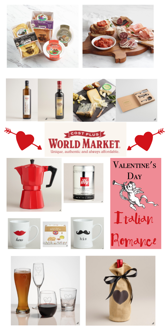 Romantic Italian Valentine's Day Dinner Ideas and More! #ad #WorldMarketTribe Gift Ideas | Italian food
