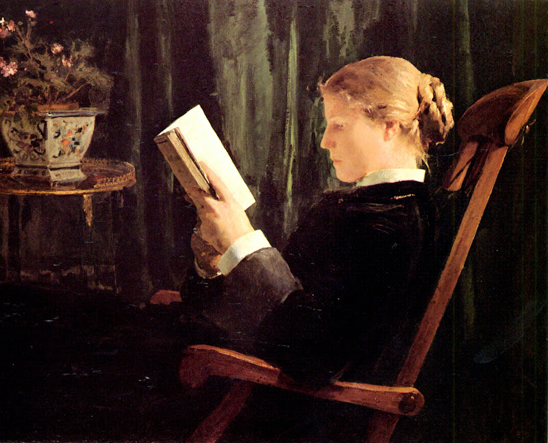 Albert Anker - Girl Reading