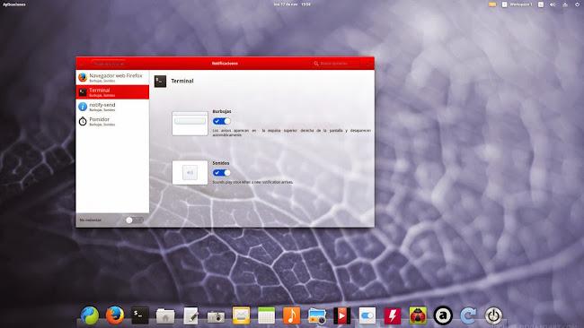 Pantheon notifications preferences ya disponible en elementary OS Freya