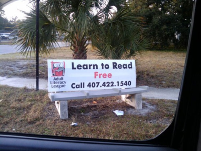 Funny Sign - Learn To Read