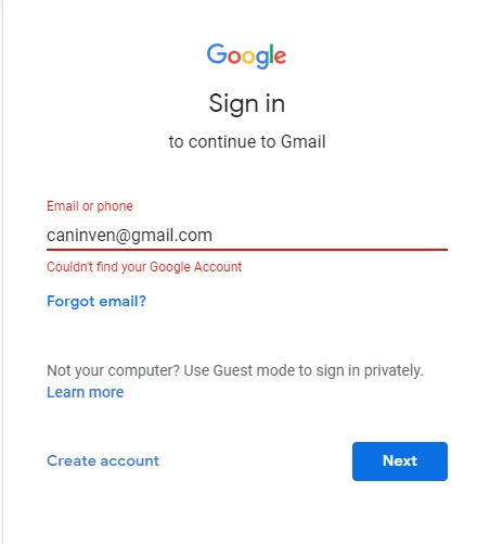 Gmail username is taken and not found for recovery  - Guida