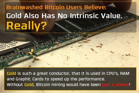 Without gold, bitcoin mining is not possible - Bitcoin is scam
